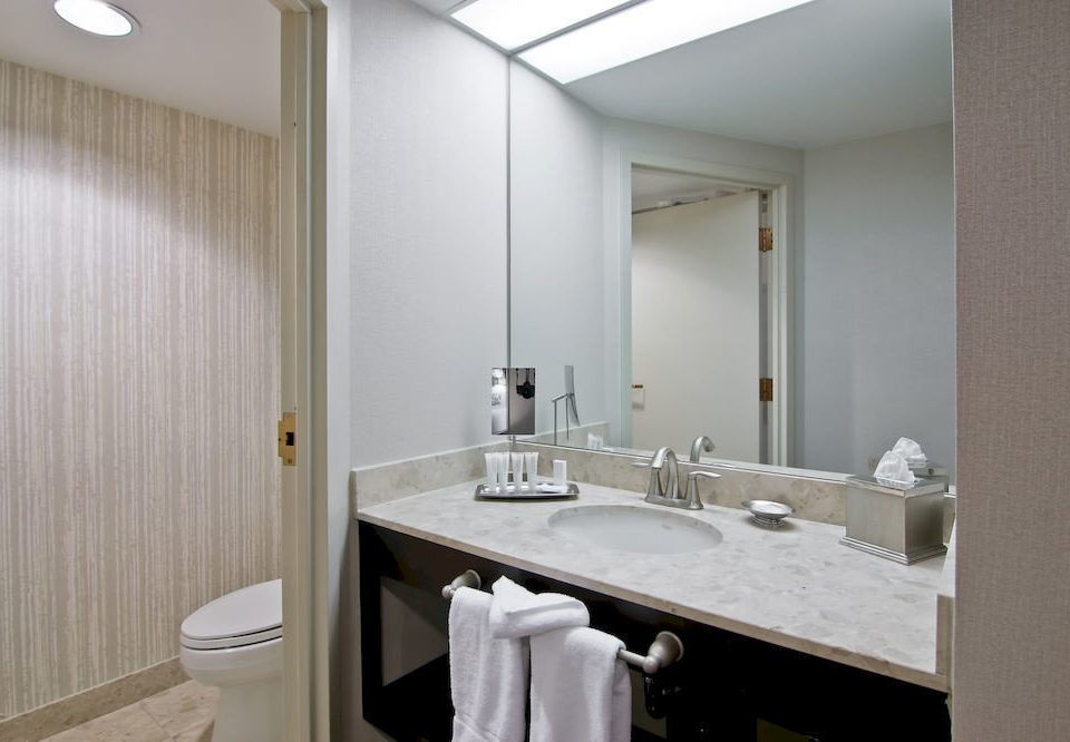bathroom mirror sink property toilet white Suite vanity