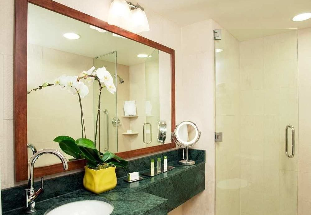mirror bathroom property sink Suite