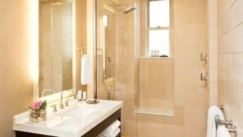 bathroom sink property Suite toilet plumbing fixture tan