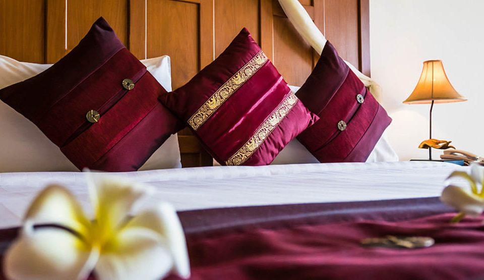 color bed sheet textile pillow Suite flower orange colored