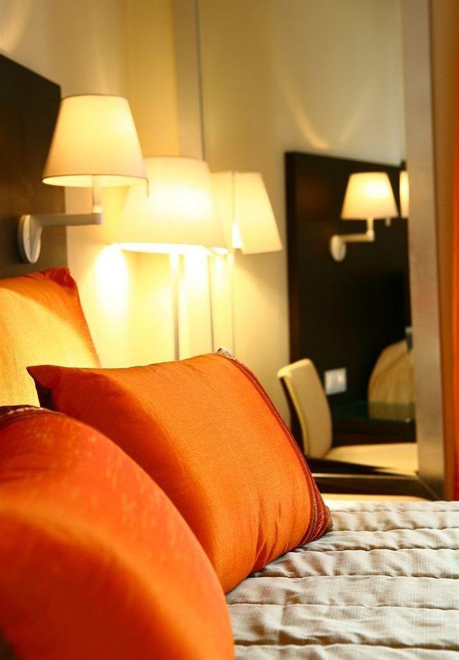 orange Suite lighting bed sheet