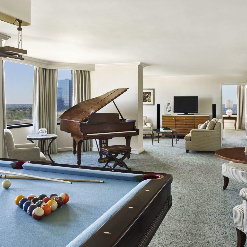 billiard room living room recreation room Suite penthouse apartment