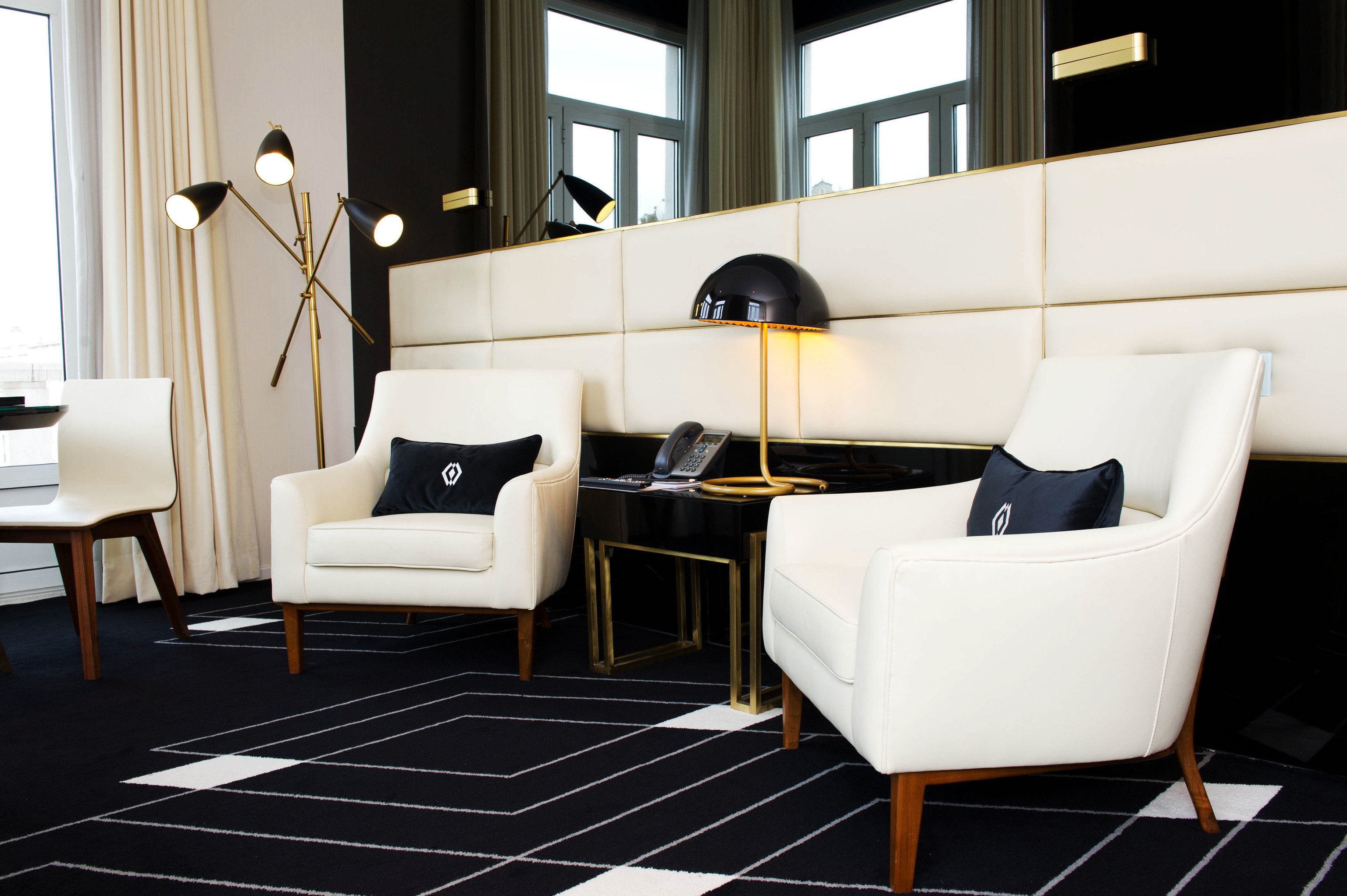 living room black flooring home Suite yacht office chair