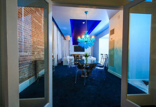 blue property condominium home Suite