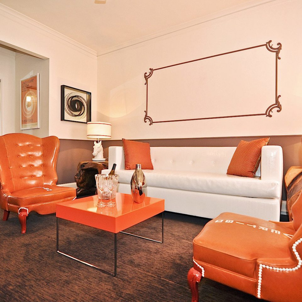 property chair living room orange Suite home