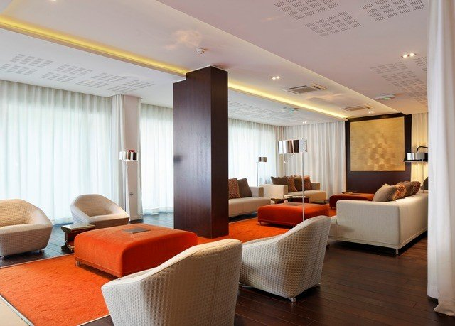 property Suite living room condominium conference hall orange flat
