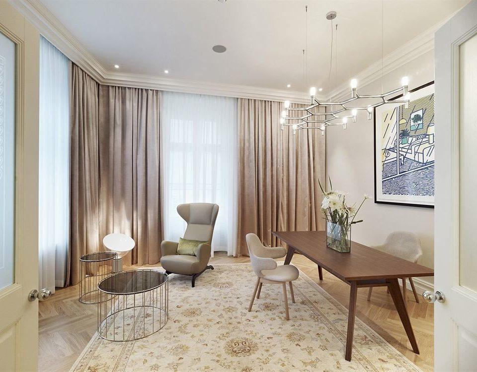 property living room Suite condominium home containing