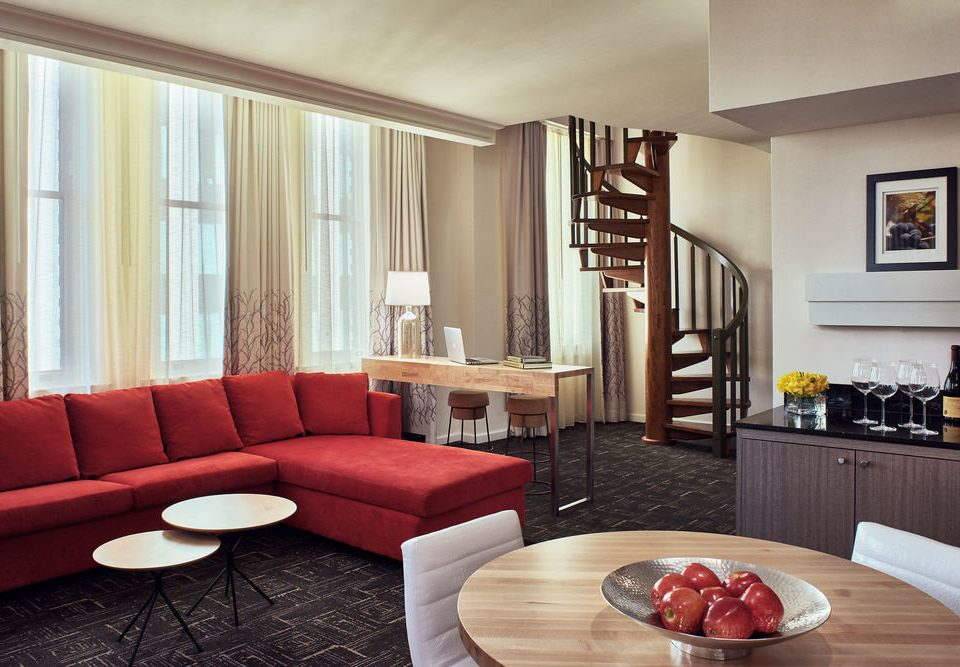 sofa living room property red home Suite hardwood nice condominium cottage flat seat leather