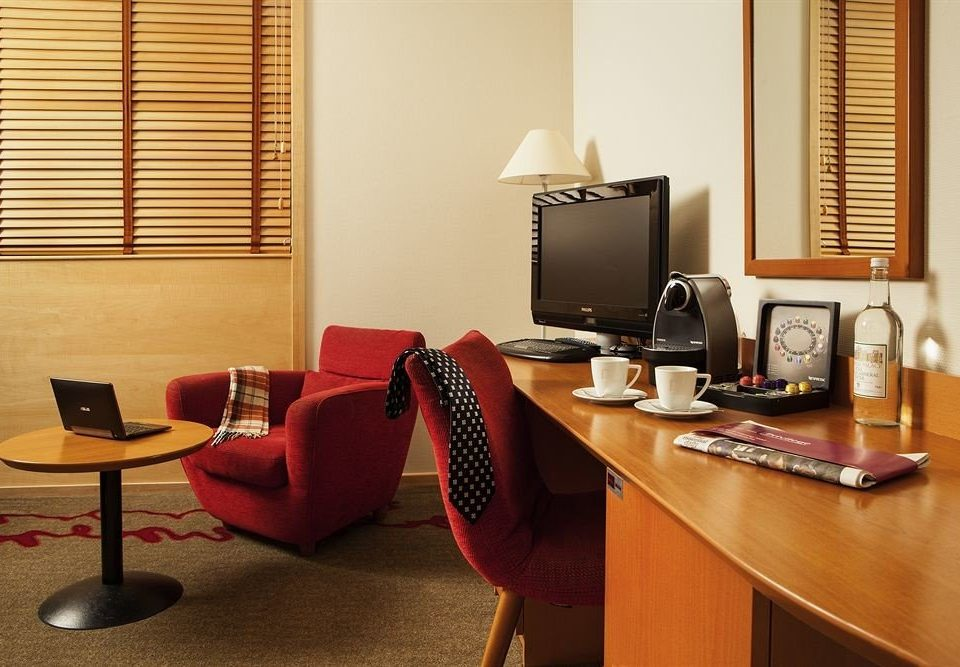 desk property living room office home condominium Suite leather