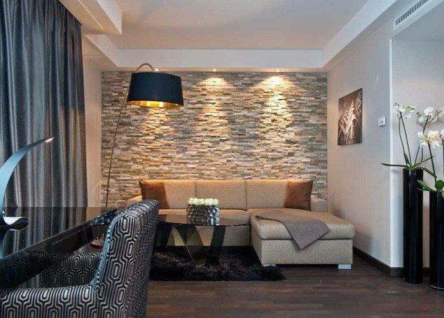 living room property Suite condominium home leather