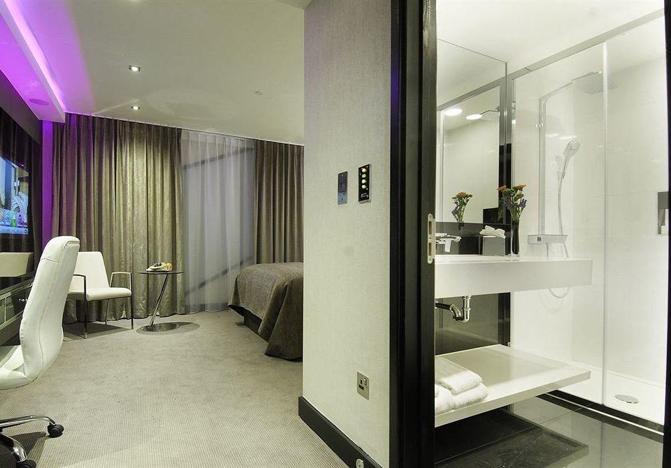 property mirror condominium home Suite living room