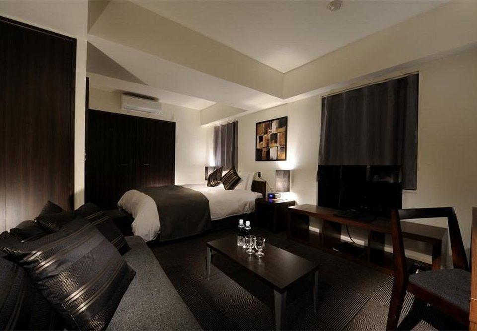property Suite living room condominium leather