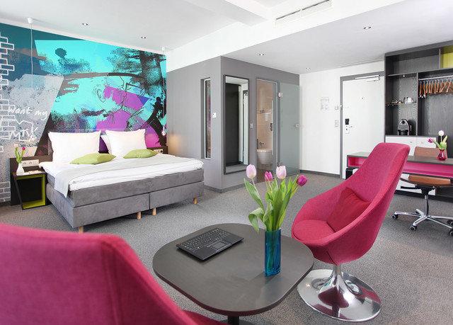 property living room red waiting room condominium Suite office