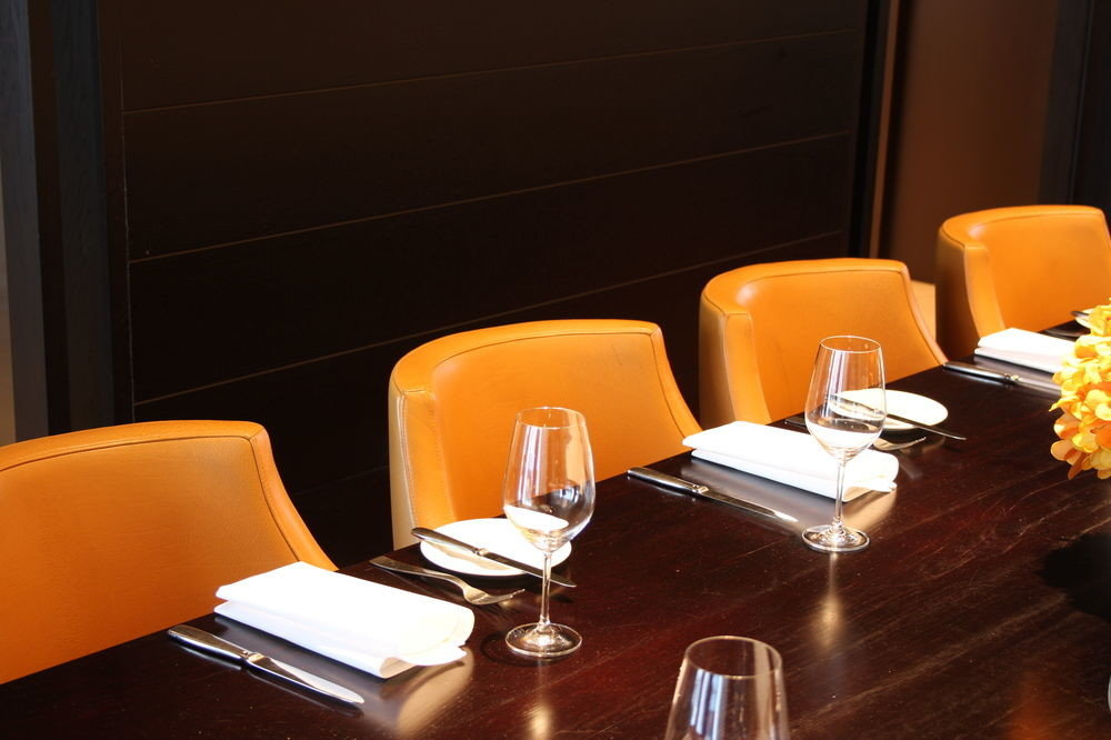 restaurant lighting orange conference hall Suite dining table