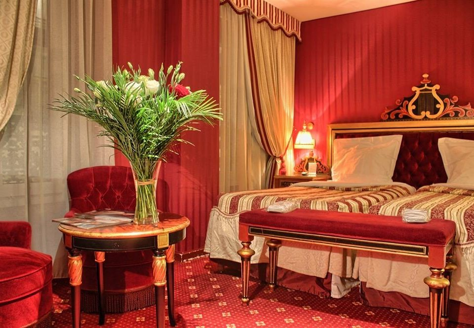 curtain red Suite function hall