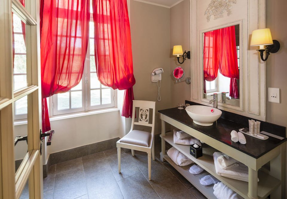 property curtain red home textile Suite window treatment