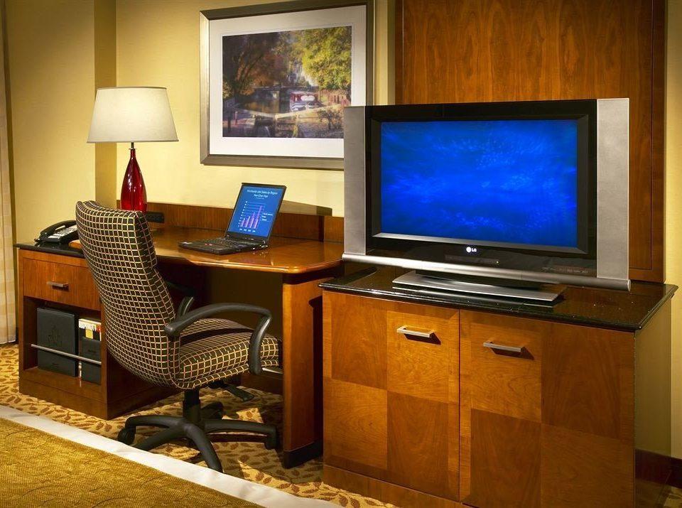 property home living room recreation room desk Suite office