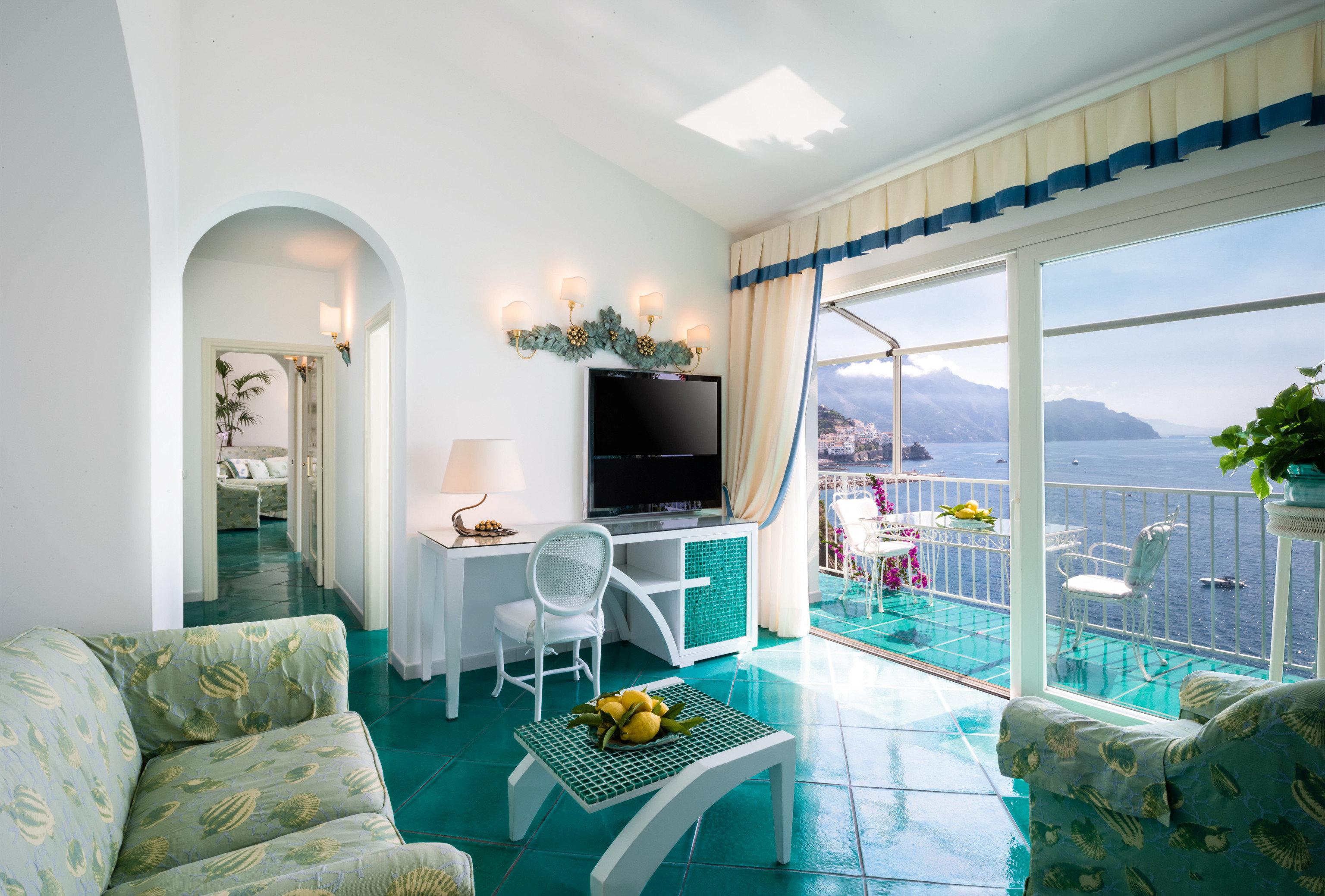 green Suite home living room penthouse apartment interior designer