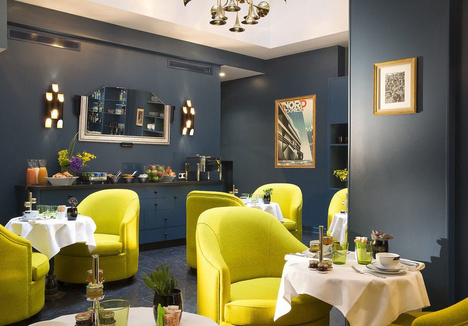 yellow living room home restaurant Suite