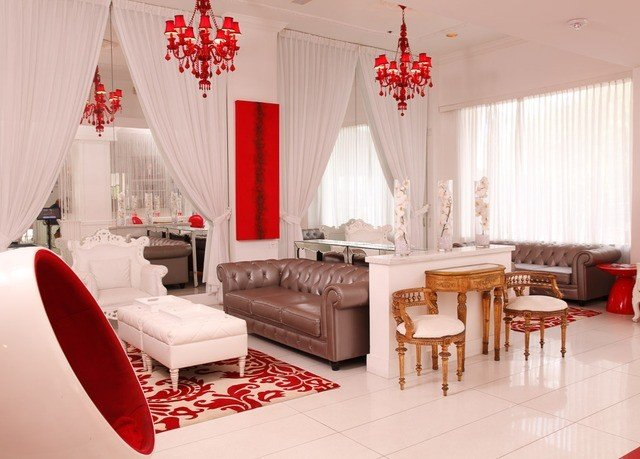 property red living room Suite restaurant