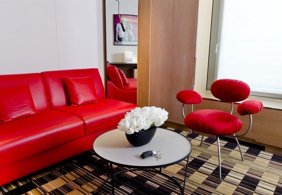 red property living room waiting room Suite seat sofa