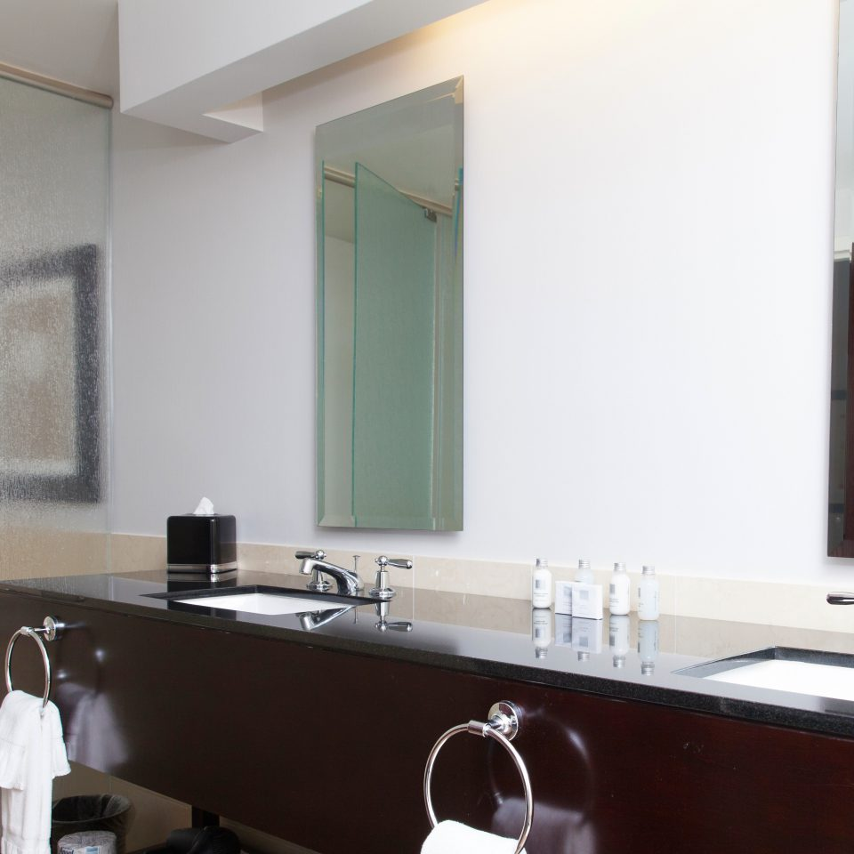bathroom mirror sink property home counter cottage condominium Villa loft vanity Suite tile stove kitchen appliance