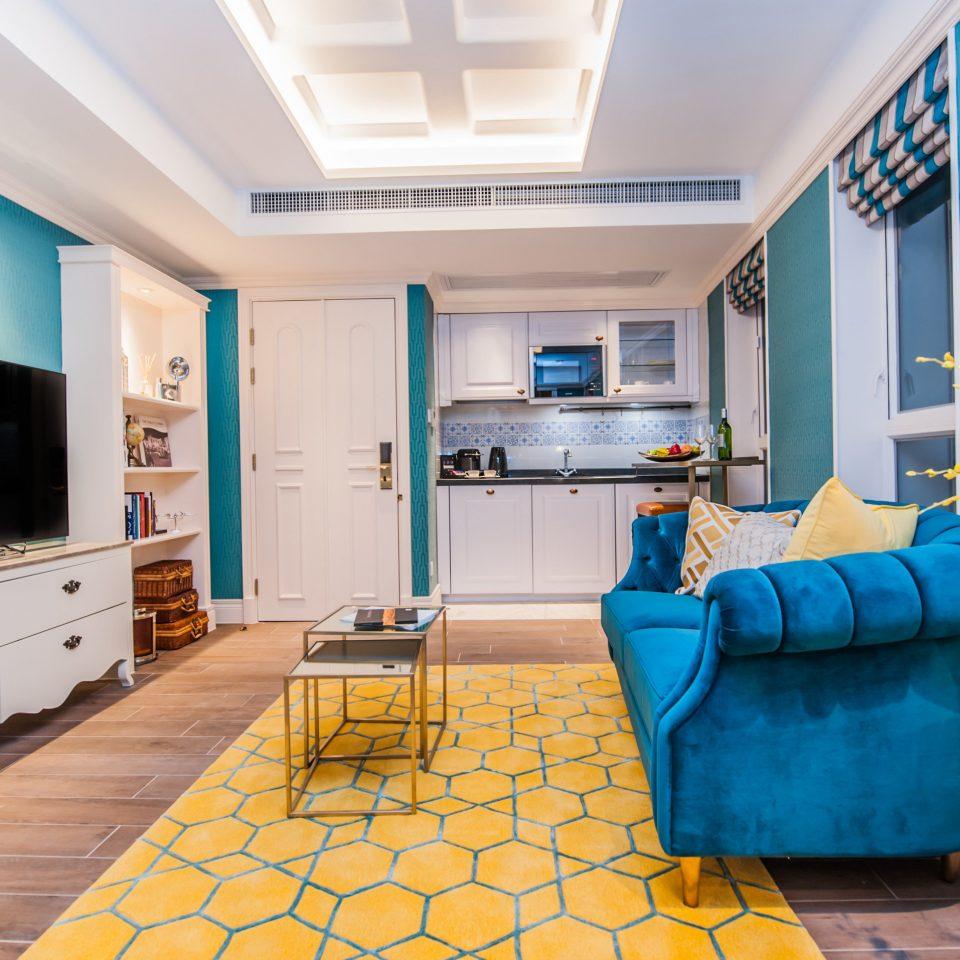 property living room home blue Suite condominium cottage Villa