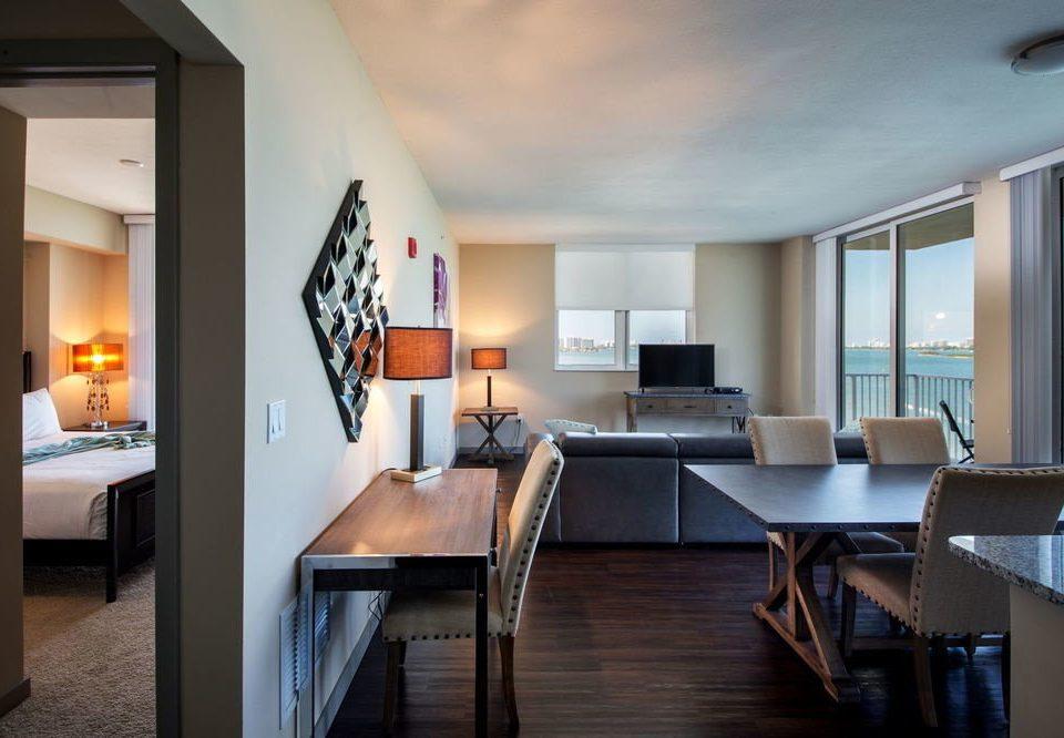 property living room home hardwood condominium Suite Villa dining table
