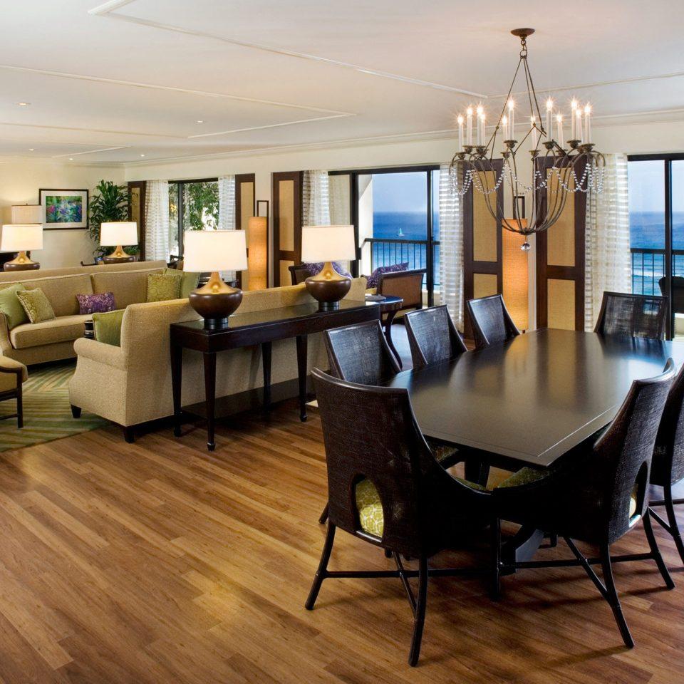 property condominium living room hardwood home wood flooring Suite flooring Villa dining table