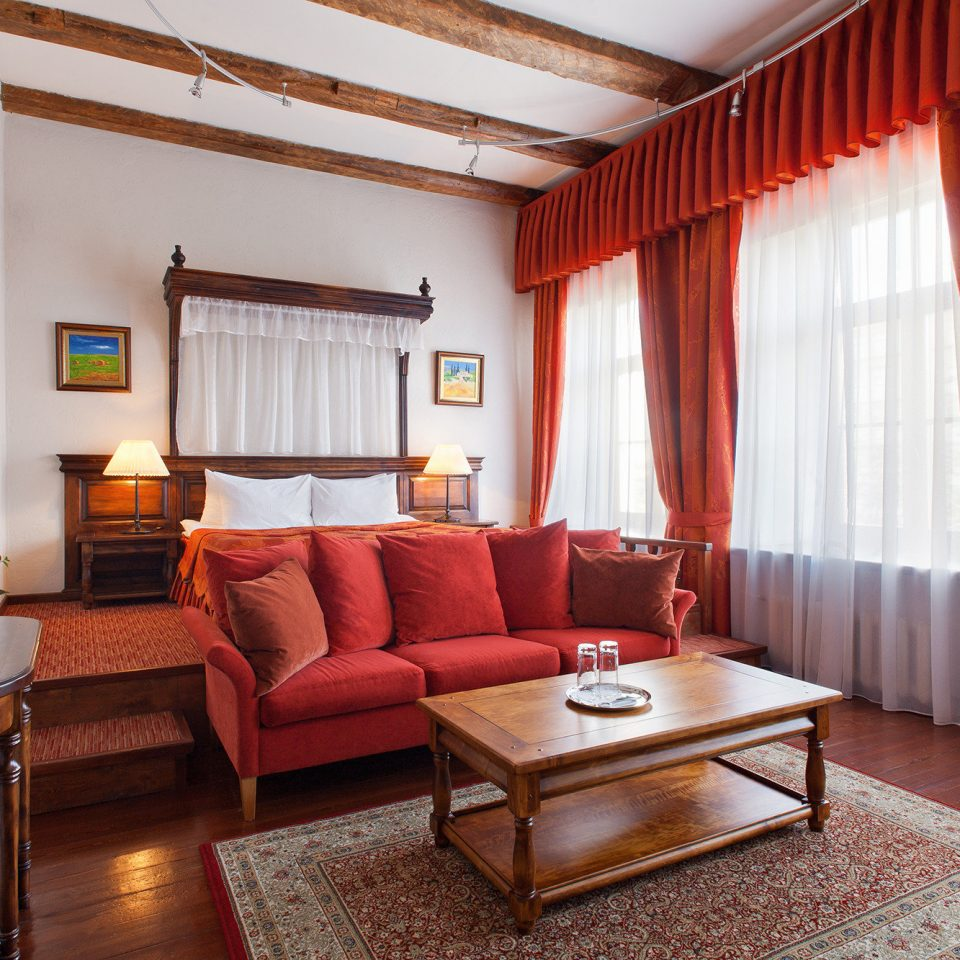 curtain property red living room Suite home cottage Villa