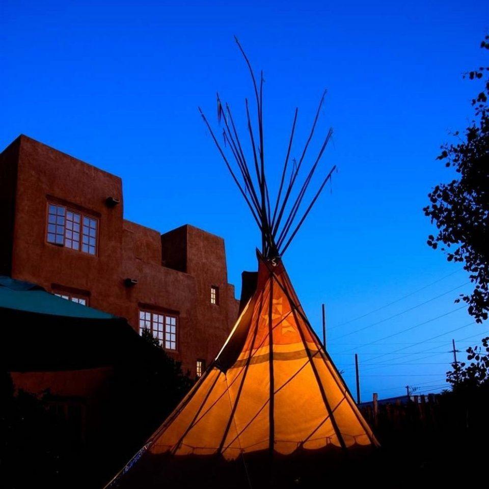 sky blue landmark tree night windmill evening dusk sunlight Sunset wind tower