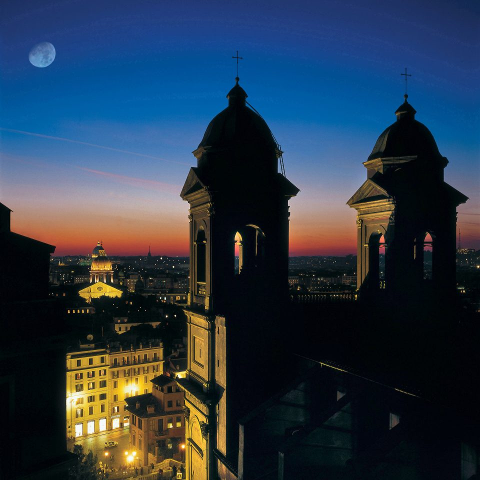 sky building landmark night evening dusk Sunset cityscape skyline tower dawn