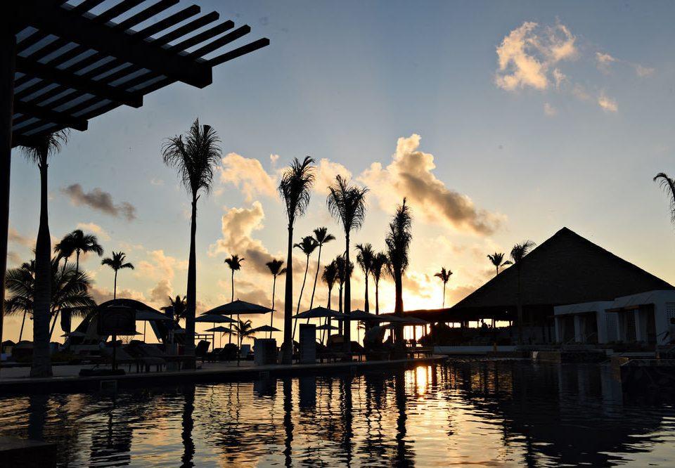sky water Sunset evening morning dusk sunlight dock