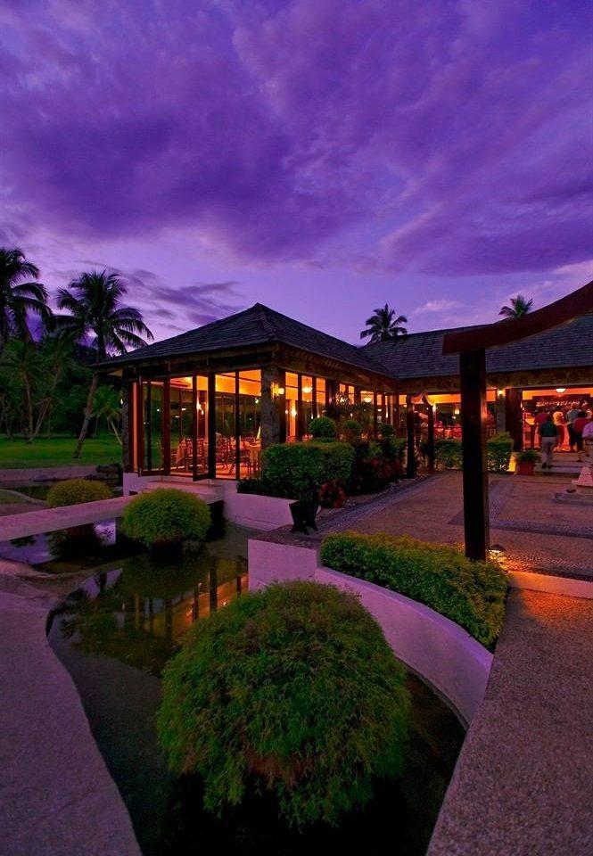 sky night house evening landscape lighting home lighting dusk Sunset mansion flower sign