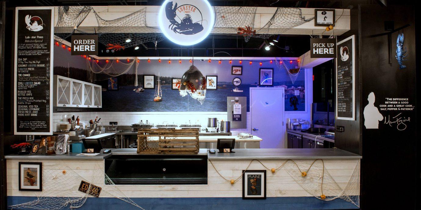 Food + Drink indoor room ceiling stage display device