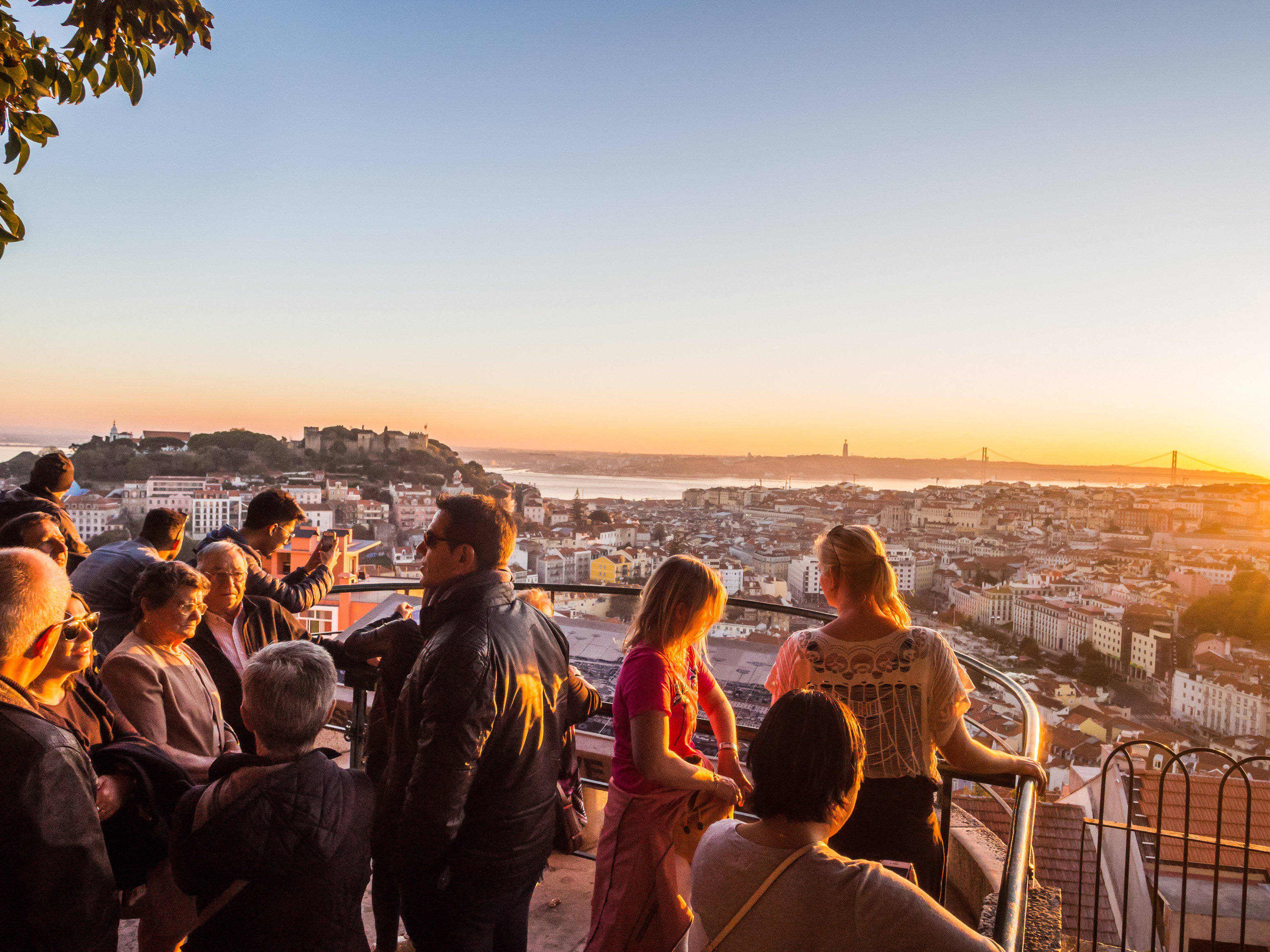 Lisbon Portugal Trip Ideas sky crowd evening morning fun Sunset sunrise tourism water sunlight City Sea vacation travel leisure recreation horizon tree dusk