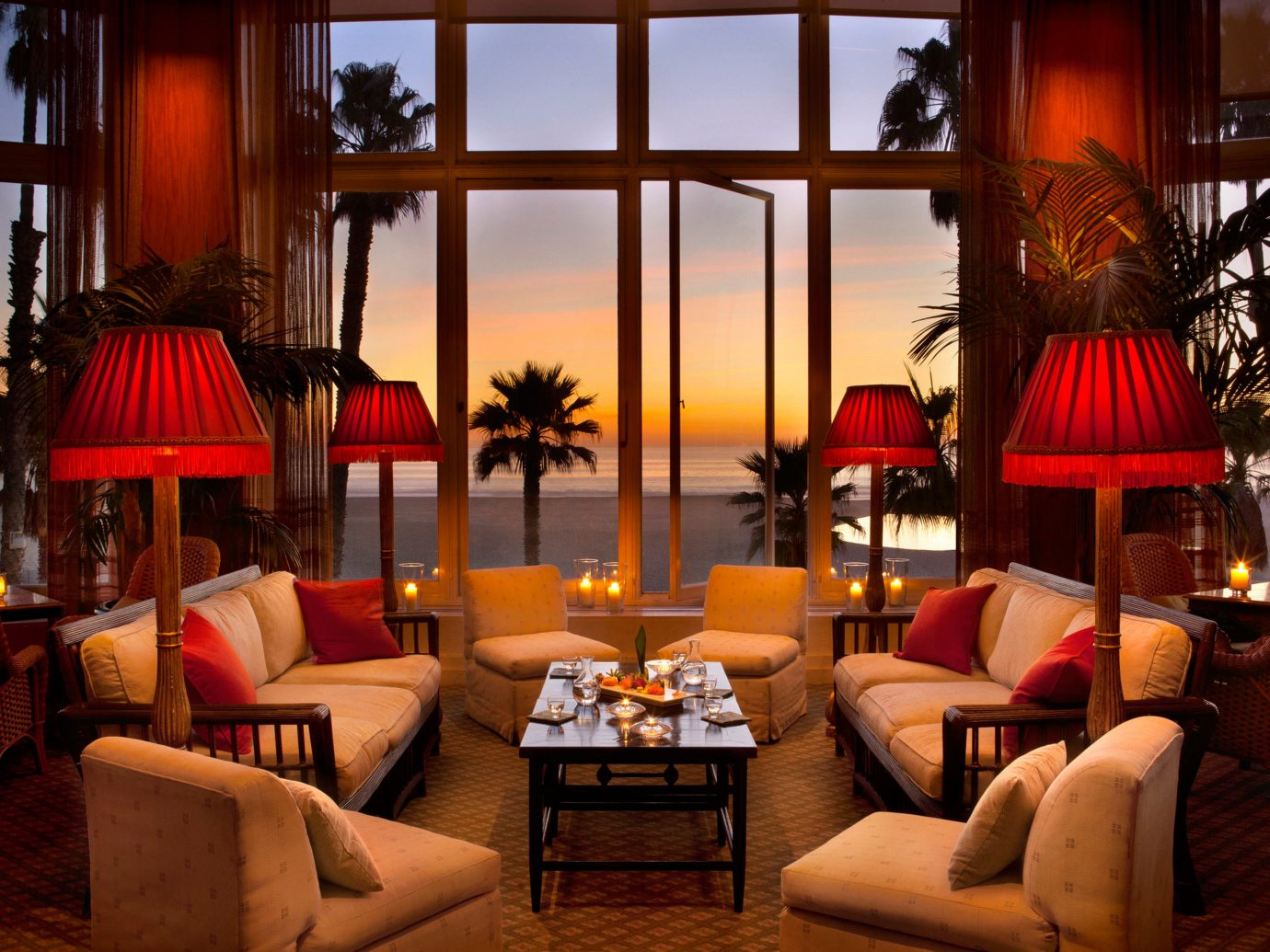 Hotels Living Lounge Luxury Modern Scenic views room indoor floor chair living room red estate Resort restaurant interior design decorated home Design Lobby Suite furniture area colorful several