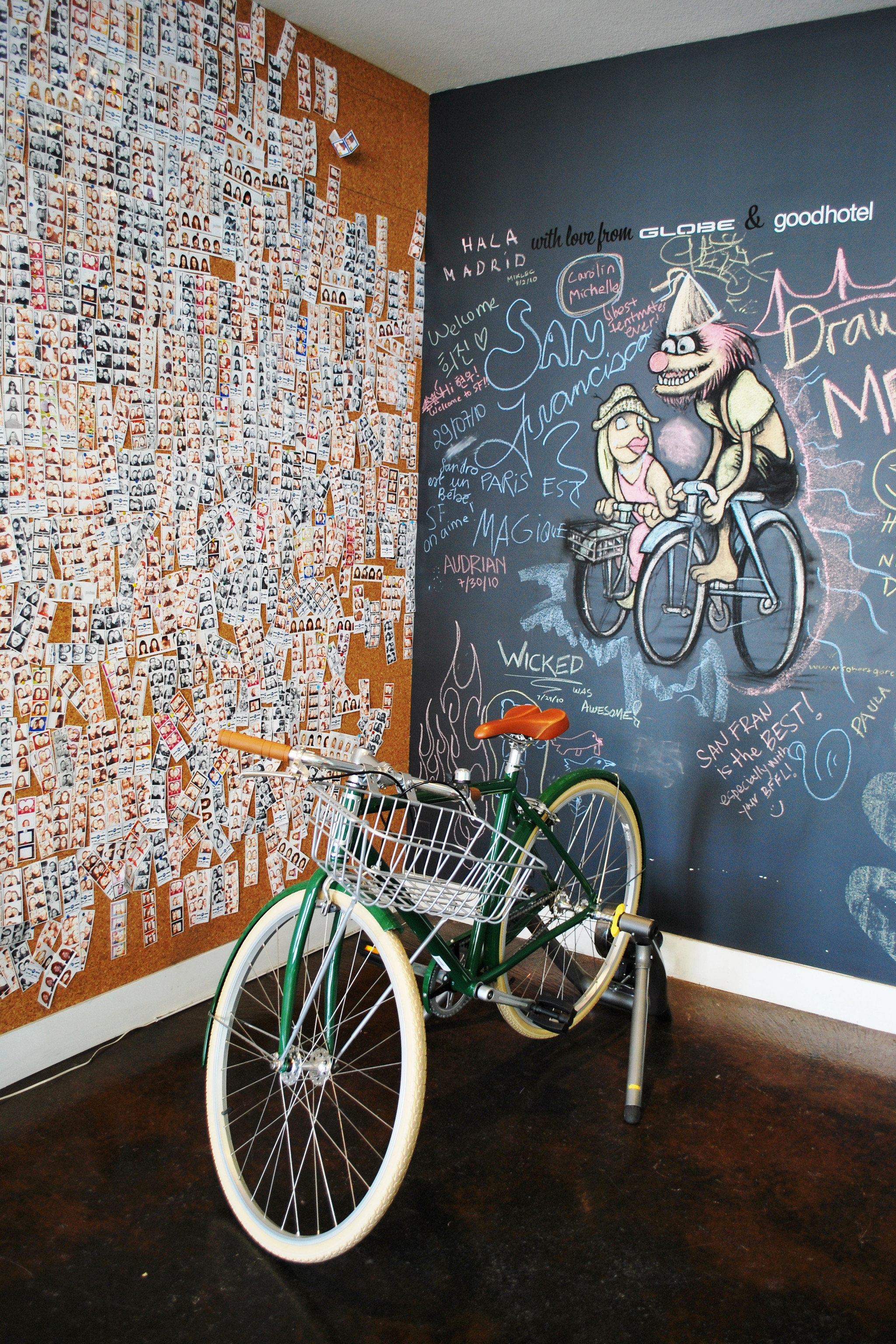 Hotels bicycle wall vehicle art mural Design painting modern art tourist attraction sports equipment
