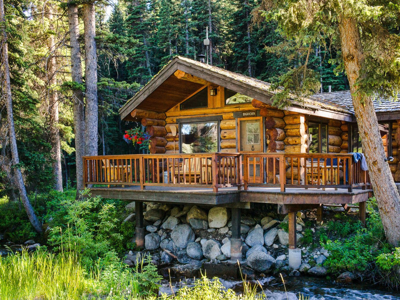 Glamping Hotels Montana Outdoors + Adventure Trip Ideas cottage log cabin home property tree wilderness plant house real estate outdoor structure landscape hut wood woodland old growth forest estate bayou shack