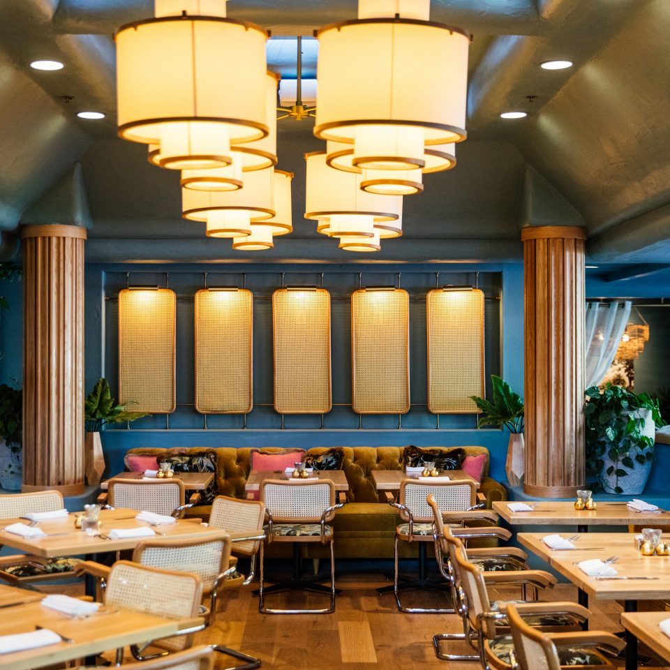 restaurant interior at The Scott Resort & Spa