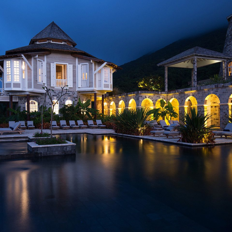 sky building water night landmark house Town evening home landscape lighting mansion cityscape palace dusk