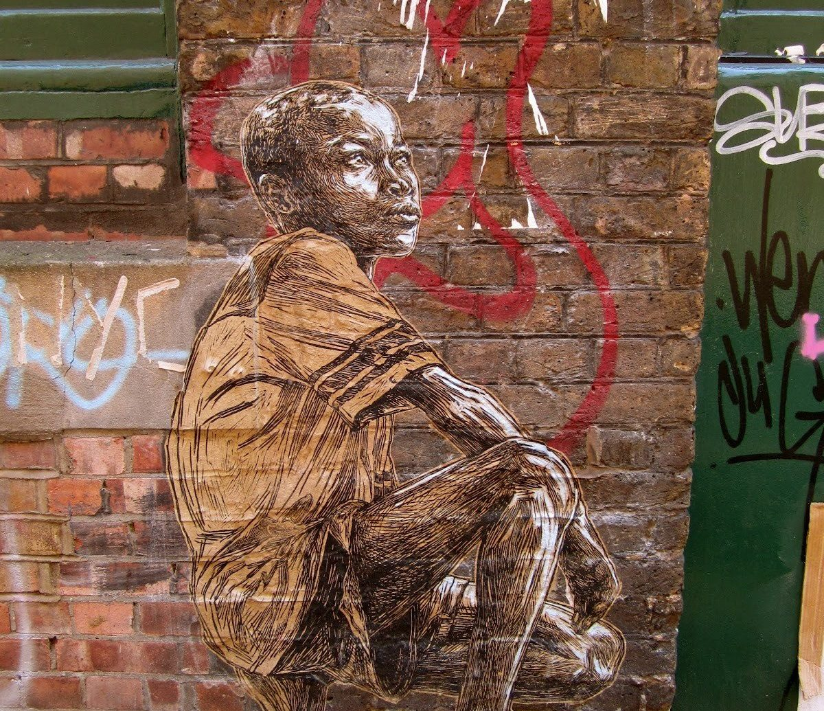 art Arts + Culture brick wall City city streets graffiti street art streets urban building wall sculpture wood carving painting brick ancient history mural