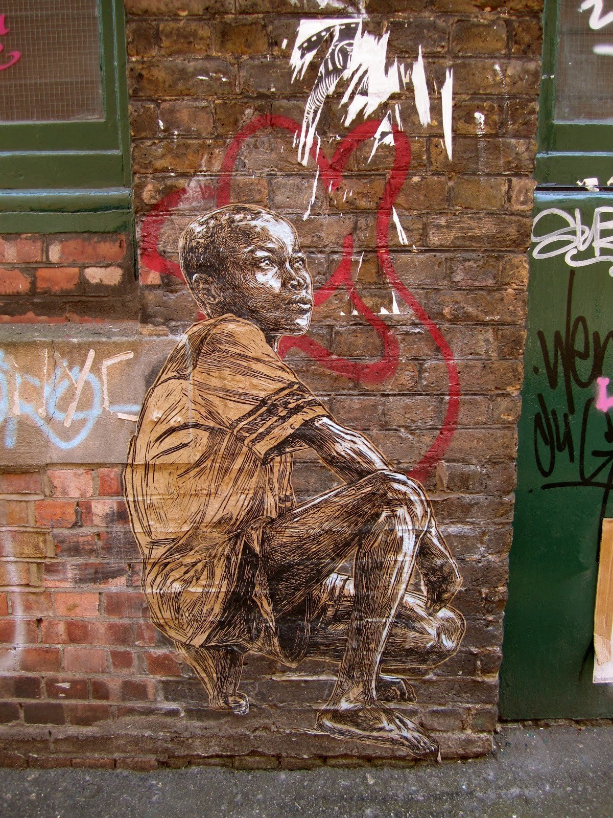 art Arts + Culture brick wall City city streets graffiti street art streets urban building wall sculpture wood carving painting brick ancient history mural
