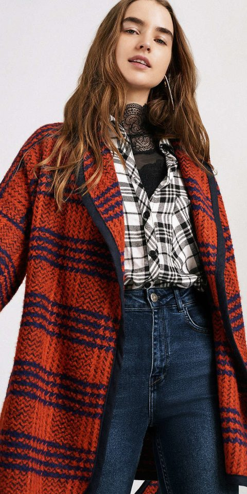 Gift Guides Style + Design Travel Shop person clothing tartan plaid coat fashion model wearing pattern outerwear Design jacket sleeve woolen cardigan model