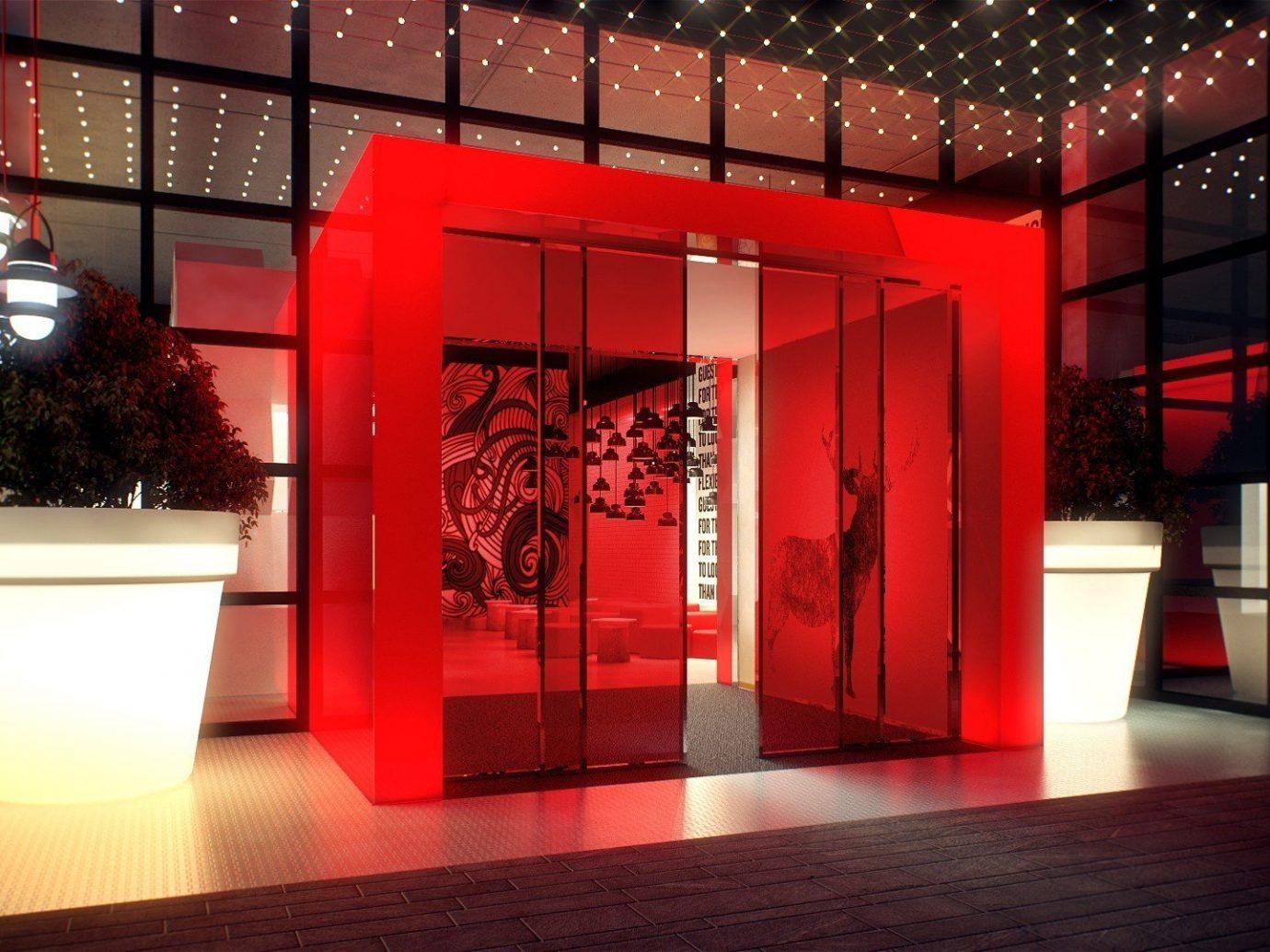 Hotels floor red indoor interior design Design Lobby display window retail tourist attraction