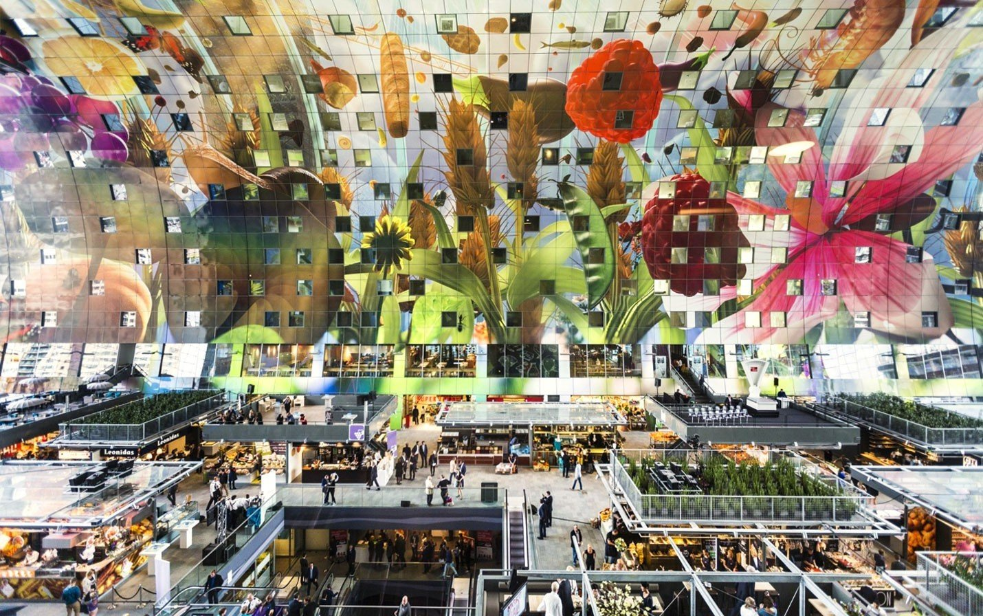 Food + Drink crowd metropolis City shopping mall retail cityscape plaza toy colorful decorated several