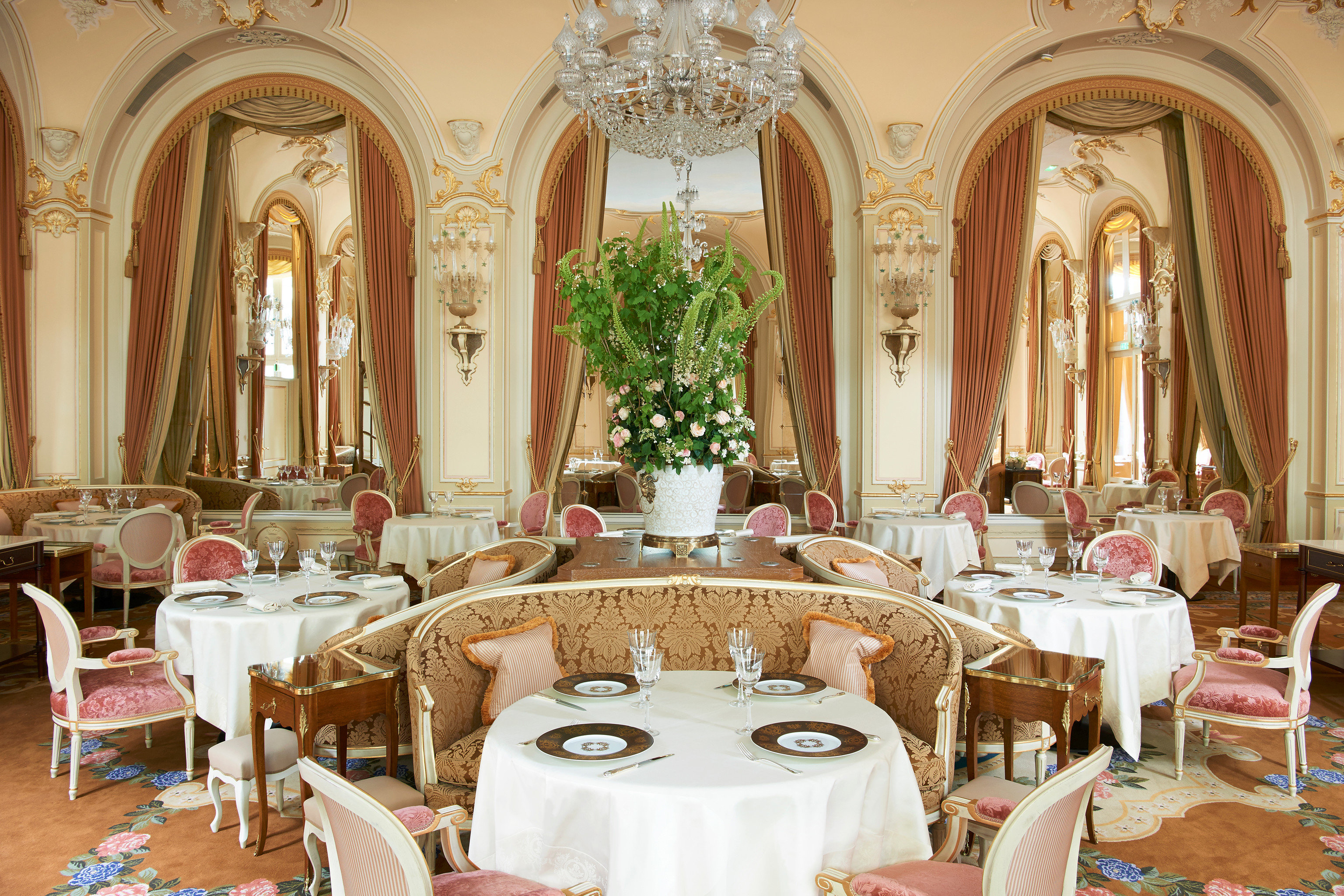 Hotels Romance Travel Tips table indoor chair function hall room Dining meal ceremony wedding ballroom aisle wedding reception palace banquet interior design estate fancy set dining table several dining room