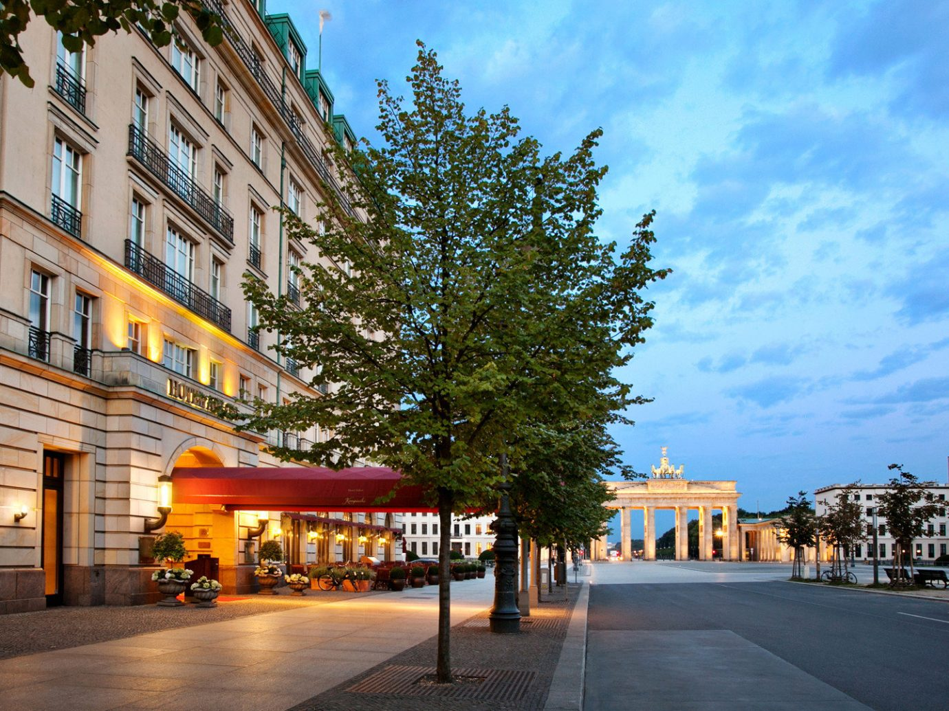 Berlin Boutique Hotels Buildings Exterior Germany Hotels Luxury Travel building sky outdoor road scene Town way neighbourhood City urban area street residential area human settlement Downtown Architecture cityscape plaza evening infrastructure sidewalk facade town square