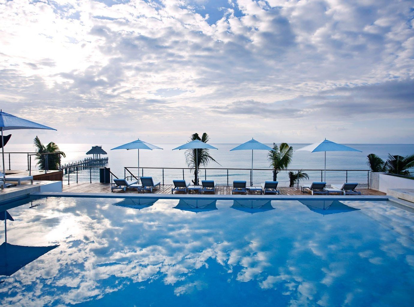 Hotels sky outdoor snow swimming pool blue Resort vacation estate Nature Sea clouds cloudy day