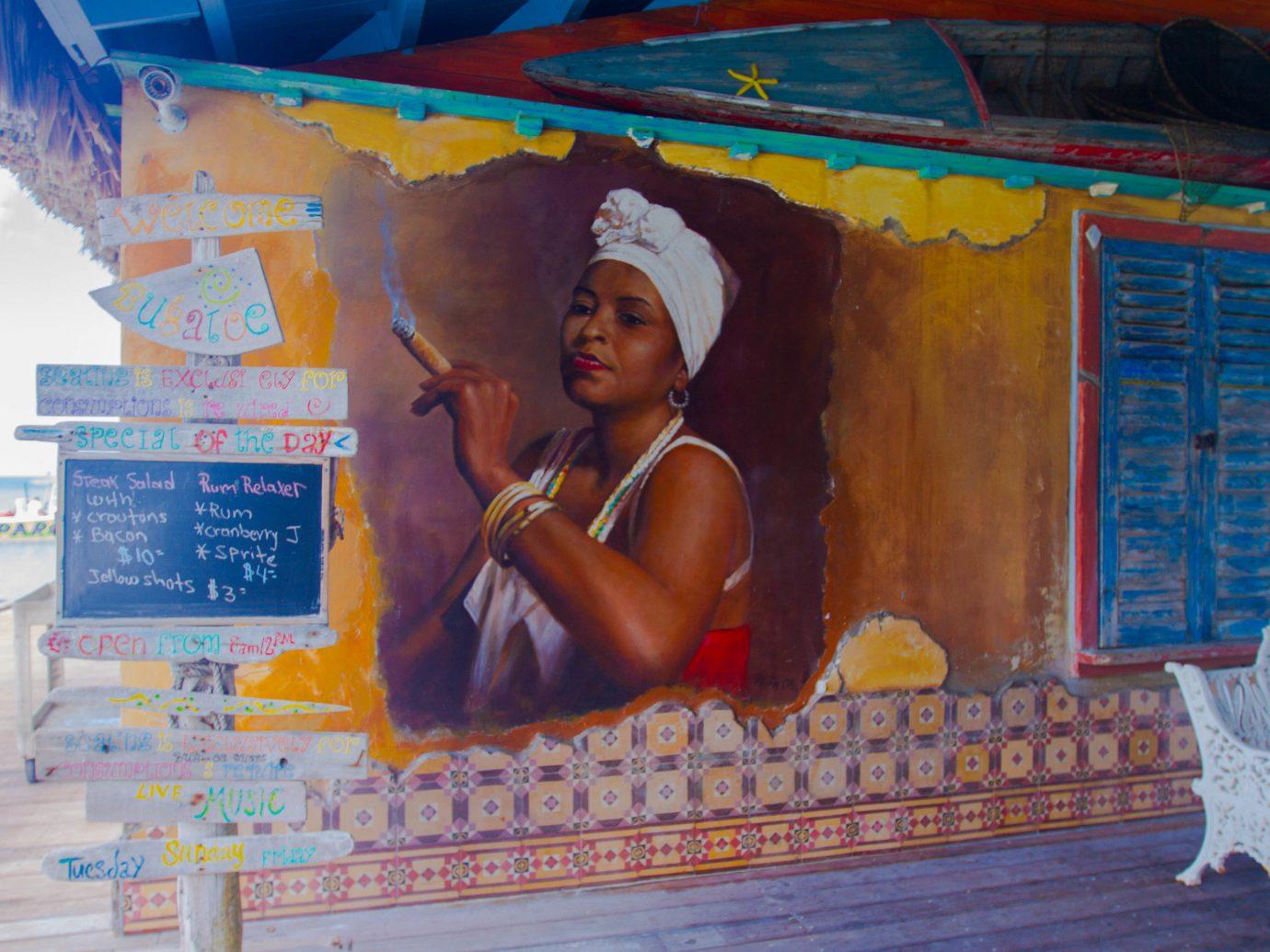 Trip Ideas color mural painting art temple orange